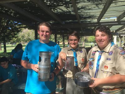 The winning team: (Left to right) Charlie Jacobs, Anthony Jauregui, and James Guttridge.